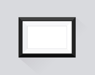 Frame with black border for business exhibition portfolio.