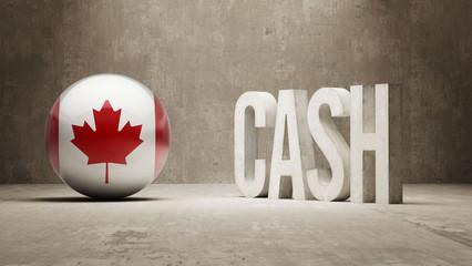 Canada. Cash  Concept.