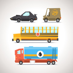 Car Flat Icon Set 6