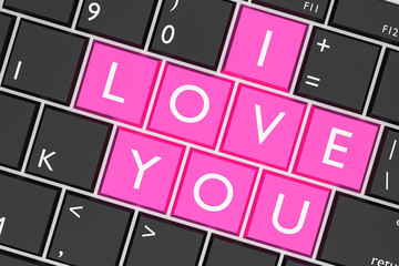 Keyboard built-in I Love You key