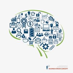 brain icon business concept