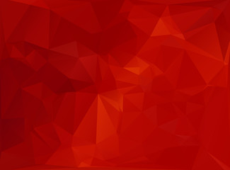 Red White Polygonal Mosaic Background