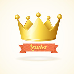 Vector golden crown