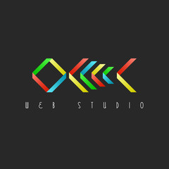 Skeleton fish, colorful design logo, restaurant idea