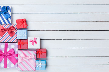 Gift boxes on white backgrund