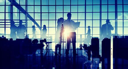 Business People Communication Cityscape Corporate Concept