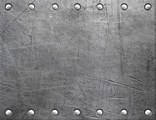 Poster de jardin Metal Riveted metal plate
