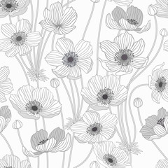 seamless pattern with summer flowers