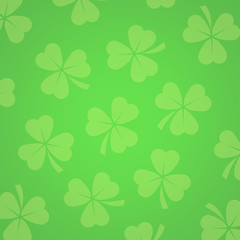 Background with Clover Leafs