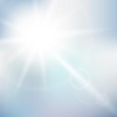 Nature sunny sky background