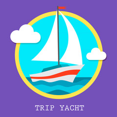yacht club team vector art