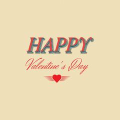 Happy Valentine's Day  Typographical Background