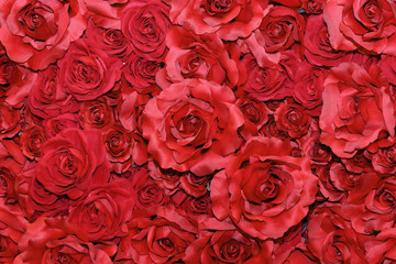 imitated red rose