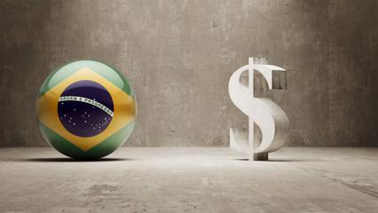 Brazil. Money Sign Concept.