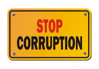 stop corruption - protest sign