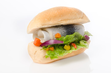 herring sandwiches well known as rollmops