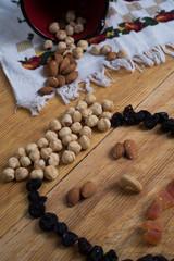 snacks on table