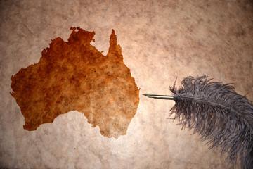 Vintage Australia map