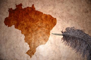 Vintage Brazil map