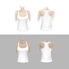 Vector White Women T-shirt