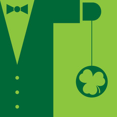 Green suit with bow tie and yo yo shamrock