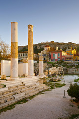 Hadrian's Library in Monastiraki square in Athens, Greece.