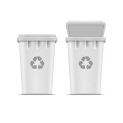 Vector Recycle Bin for Trash and Garbage Isolated