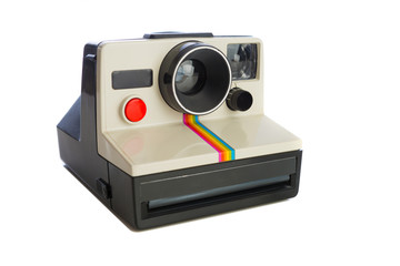 Instant camera on white