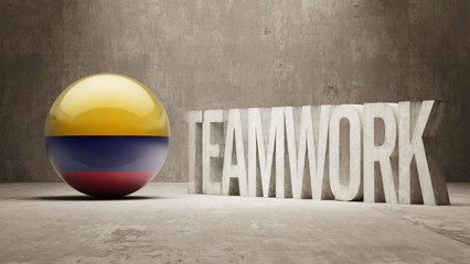 Colombia. Teamwork Concept.