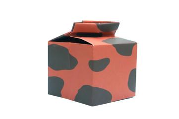 Brown  milk box.