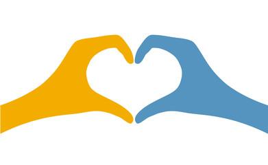 hand heart symbol shape icon
