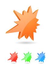 abstract sta rburst splash 3d icon