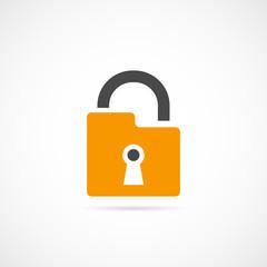 padlock design flat icon