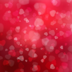 Happy Valentine's Day background with hearts.