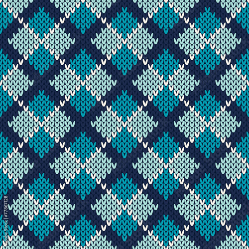 Argyle Knitted Pattern Seamless Vector Background Stock Image And
