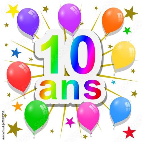 Anniversaire 10 Ans Photo Libre De Droits Sur La Banque D Images