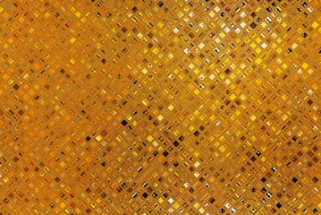 Luxury golden mosaic, gold background