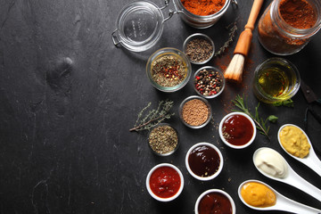 Various Spicy Ingredients for Recipe on the Table