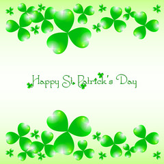 Holiday card on St. Patrick's Day. March 17