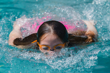 Girl Swim Surface