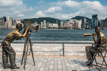 Foto op Plexiglas Hong-Kong statues Avenue of Stars Tsim Sha Tsui Kowloon Hong Kong