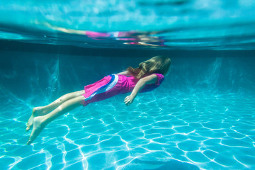 Girl Underwater Pool