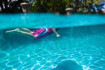 Girl Underwater Surface