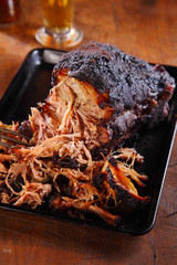 Mouth Watering Pulled Pork on Black tray