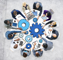 Group Business People Meeting Strategy Illustration Concept
