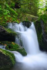 Foto op Canvas Waterfall in the national park Sumava-Czech Republic