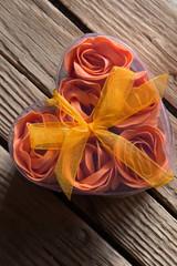 Rose in Heart Shape Box