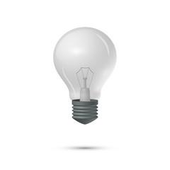 Light bulb on a white background