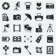 Photo icons. Vector icons.