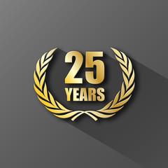 25 YEAR ANNIVERSARY Icon (twenty-five years wreath prize)